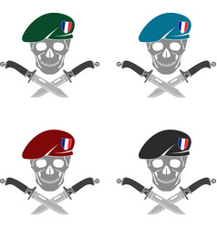 Set of sign of special forces of france vector