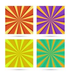 set sunburst backgrounds vector image