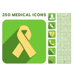 Solidarity Ribbon Icon and Medical Longshadow Icon vector