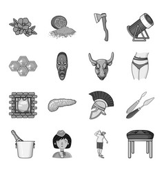 Spice woodworking apiary and other web icon in vector