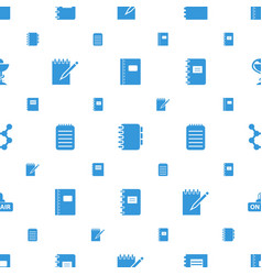Spiral icons pattern seamless white background vector