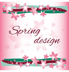 Spring card design vector image
