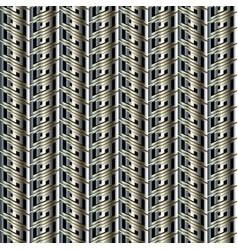 striped zigzag greek 3d seamless pattern vector image
