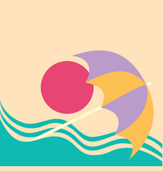 summer vacation poster concept water slide vector image