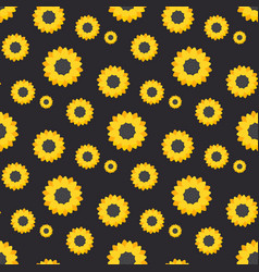 Sunflower seamless pattern vector