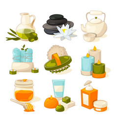 Symbols of massage or spa salon therapy vector