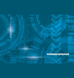 technocal blue background vector image