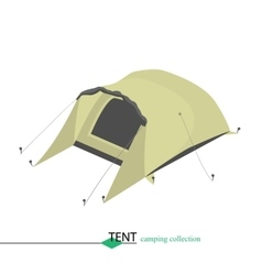 Tent for shelter from the wind in bad weather vector