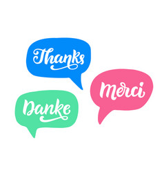 thank you phrase hand written lettering vector image