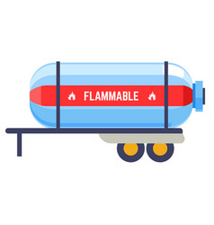 Transportation cylinder with flammable liquid vector