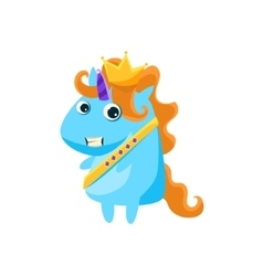 Unicorn In Prince Charming Costume vector