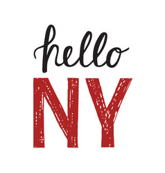 Vintage poster with quote hello new york vector