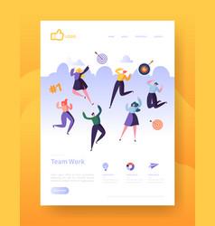 Website development landing page template poster vector