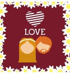 wedding marriage love vector image
