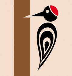 Woodpecker icon vector image
