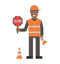 Workers man set vector