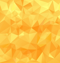 yellow orange sunny polygonal triangular pattern vector image