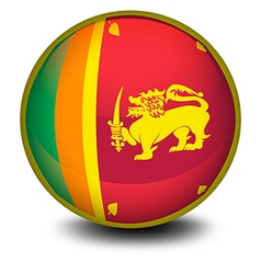 A ball with the flag of SriLanka vector image vector image