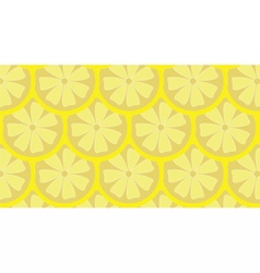 Lemon pattern background vector image vector image