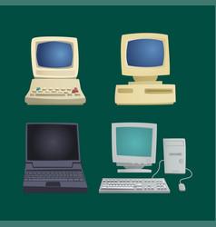 retro computer item classic antique technology vector image vector image