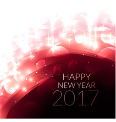 shiny glowing happy new year 2017 greeting card vector image vector image