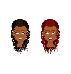 african american female face with different vector image