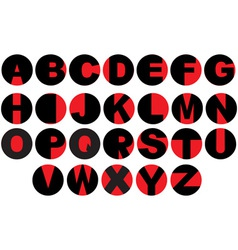 Alphabet - vinyl record letters vector image