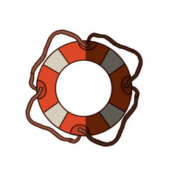 colorful flotation hoop with cord and middle vector image