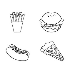 figure fast food background icon vector image vector image