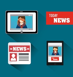 Journalism design vector image vector image