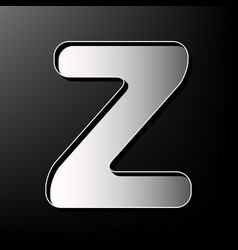 letter z sign design template element vector image vector image