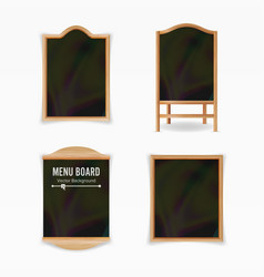 menu black board empty cafe menu set vector image