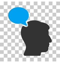 Person opinion icon vector