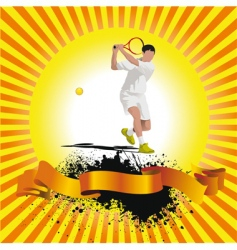 poster tennis vector image vector image