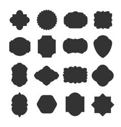 Vintage blank frames badges for emblems and labels vector image vector image