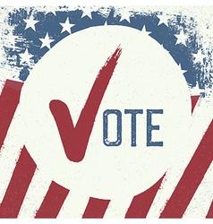 Voting symbol design template vector image