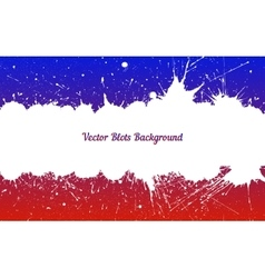 white ink splashes over blue red vector image vector image