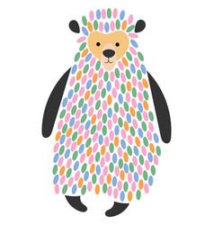 a cartoon bear stylized vector image vector image