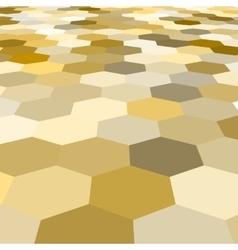 abstract golden hexagonal floor 3d vector image