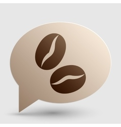 Coffee beans sign Brown gradient icon on bubble vector image vector image