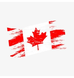 Color canada national flag grunge style eps10 vector