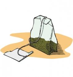 green tea bag vector image