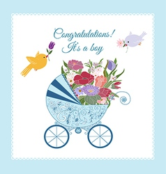 Its a Boy Greeting Card vector image