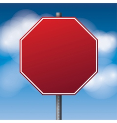 Red Blank Stop Sign vector image