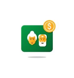 Retiremet pension finance insurance idea savings vector
