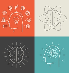 set of education and knowledge vector image vector image