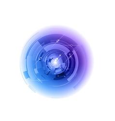 tech background center vector image