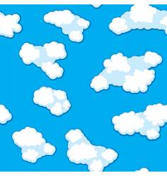 abstract clouds background seamless vector image vector image