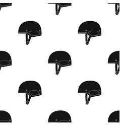 army helmet icon in black style isolated on white vector image vector image