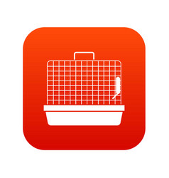 cage for birds icon digital red vector image vector image